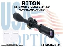 RITON RT-S MOD 3 GEN2 6-24x50 NON-ILLUMINATED