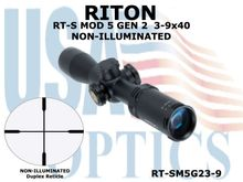 RITON RT-S MOD 5 GEN2 3-9X40 - NON-ILLUMINATED
