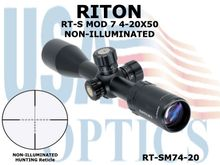 RITON RT-S MOD 7 4-20X50 NON-ILLUMINATED
