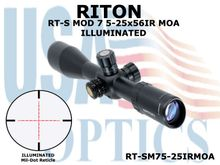 RITON RT-S MOD 7 5-25X56IR MOA - ILLUMINATED