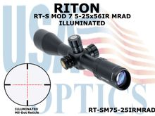 RITON RT-S MOD 7 5-25x56IR MRAD - ILLUMINATED
