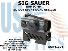 SIG SAUER ROMEO 4M RED DOT SIGHT DUAL RETICLE