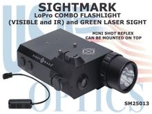 SIGHTMARK LoPro COMBO FLASHLIGHT (VISIBLE and IR) and GREEN LASER SIGHT