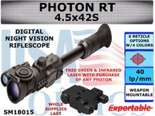 SIGHTMARK PHOTON RT 4.5x42S DIGITAL NIGHT VISION RIFLESCOPE