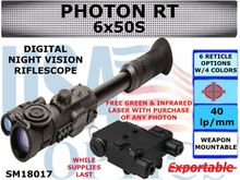 SIGHTMARK PHOTON RT 6x50S DIGITAL NIGHT VISION RIFLESCOPE