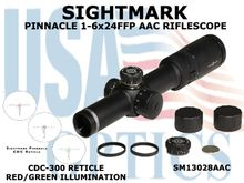 SIGHTMARK PINNACLE 1-6x24FFP AAC RIFLESCOPE CDC-300 RETICLE
