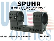 SPUHR 35mm PICATINNEY MOUNT 0MIL/0MOA - 1.50""