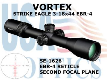 "STRIKE EAGLE 3-18x44 EBR-4 MOA - ILLUMINATED<FONT COLOR = ""RED""> LIMITED AVAILABILITY</FONT>"