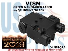 VISM GREEN & INFRARED LASER w/QR MOUNT/ BLACK
