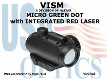 VISM MICRO GREEN DOT with INTEGRATED RED LASER