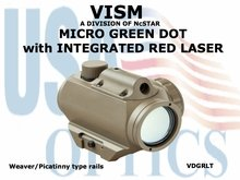 VISM MICRO GREEN DOT with INTEGRATED RED LASER - TAN