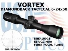 VORTEX DIAMONDBACK TACTICAL RIFLESCOPE 6-24x50 FFP EBR-2C RETICLE MOA