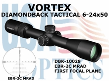 VORTEX DIAMONDBACK TACTICAL RIFLESCOPE 6-24x50 FFP EBR-2C RETICLE MRAD