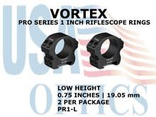 VORTEX PRO SERIES 1 Inch RIFLESCOPE RINGS - LOW HEIGHT [0.75 Inches | 19.05 mm]