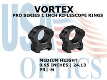 VORTEX PRO SERIES 1 Inch RIFLESCOPE RINGS - MEDIUM HEIGHT [0.95 Inches | 24.13 mm]