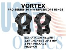 VORTEX PRO SERIES 30 mm RIFLESCOPE RINGS - EXTRA HIGH HEIGHT [1.54 Inches | 39.1 mm]