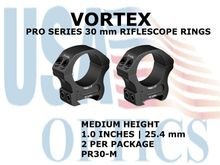 VORTEX PRO SERIES 30 mm RIFLESCOPE RINGS - MEDIUM HEIGHT [1.0 Inches | 25.4 mm]