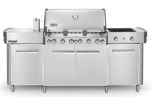 292001 Weber Summit Grill Center with 6 Burners and Tuck-Away Rotisserie - Natural Gas - Stainless Steel