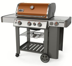 61022001 Weber Genesis II Series E-330 Outdoor Grill with Sear Station and Side Burner - Liquid Propane - Copper
