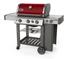 61032001 Weber Genesis II Series  E-330 Outdoor Grill with Sear Station and Side Burner - Liquid Propane - Red