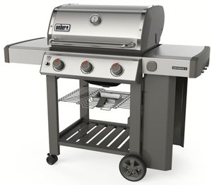 66001001 Weber Genesis II Series S-310 Outdoor Grill with Infinity Ignition and Grease Management System - Natural Gas - Stainless Steel