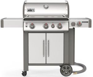 66006001 Weber Genesis II Series S-335 Outdoor Grill with Sear Station and Side Burner - Natural Gas - Stainless Steel
