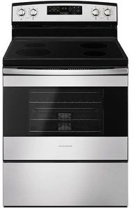 "AER6603SFS Amana 30"" Free Standing Electric Range with SelfClean Option and Temp Assure Cooking System - Black on Stainless Steel"