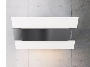 "AINM80AWX Zephyr Arc Collection 32"" Incline Wall Hood - White with Stainless Steel"