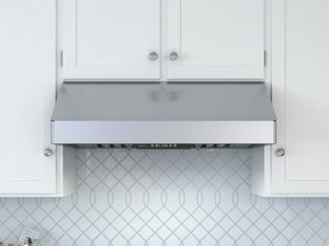 "AK7036BS Zephyr Tempest I Professional 36"" Wall Hood with 650 CFM Blower Included - Stainless Steel"