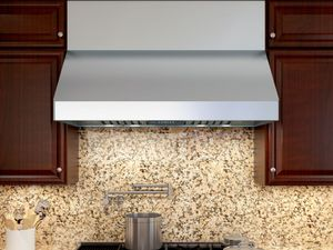 "AK7500BS Zephyr Tempest II 30"" Professional Wall Hood with 650 CFM Blower Included - Stainless Steel"