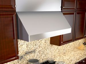 """AK7536BS Zephyr Tempest II 36"""" Professional Wall Hood with 650 CFM Blower Included - Stainless Steel"""