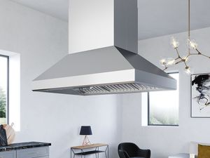 """AK7742AS Zephyr 42"""" Pro Collection Titan Island Hood with 750 CFM - Stainless Steel"""