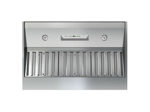 """AK9240AS Zephyr Power Monsoon I One Piece 42"""" Hood Insert with RF Remote - 1200 CFM - Stainless Steel"""