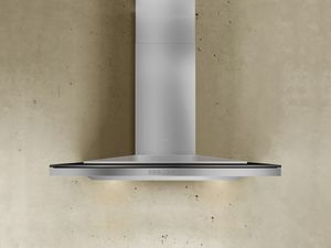 "ALAM90BBX Zephyr Arc Collection Layers Designer 36"" Wall Hood - Stainless Steel and Black"