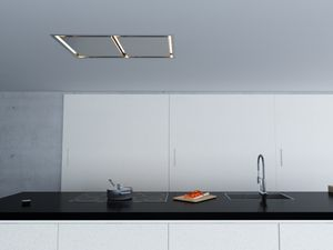 """ALUE43ASX Zephyr Arc Collection 43"""" In-Ceiling Lux Island Hood - Stainless Steel"""