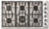 "ARDCT366N American Range 36"" Vitesse Series Drop In Gas Cooktop with 6 Sealed Burners - Stainless Steel"