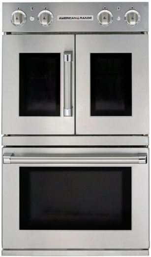 "AROFFG-230N American Range 30"" Legacy Double French Door Gas Wall Oven with Innovection Convection and Porcelainized Interior - Stainless Steel - Natural Gas - Stainless Steel"
