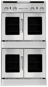AROFFHGE-230N American Range Legacy Hybrid Double Wall Oven with Gas French Door Top - Electric French Door Bottom - Natural Gas - Stainless Steel