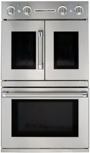 AROFSHGE-230N American Range Legacy Hybrid Double Wall Oven with Gas French Door Top - Electric Chef Door Bottom - Natural Gas - Stainless Steel