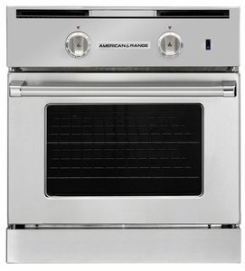 "AROSG-30N American Range 30"" Legacy Single Chef Door Gas Wall Oven with Infared Broiler and Innovection Convection - Natural Gas - Stainless Steel"