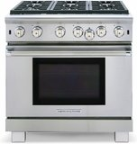 """ARR-636N American Range Cuisine 36"""" All Gas Range with Sealed Gas Burners & Innovection Convection Oven - Natural Gas - Stainless Steel"""