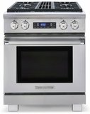 """ARR-304DFN American Range Medallion 30"""" Dual Fuel Range with 4 Sealed Gas Burners & Electric Oven - Natural Gas - Stainless Steel"""