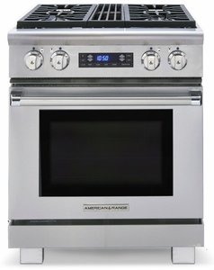 "ARR-304DFN American Range Medallion 30"" Dual Fuel Range with 4 Sealed Gas Burners & Electric Oven - Natural Gas - Stainless Steel"