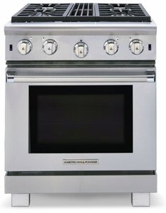 "ARR-436GRN American Range Cuisine 36"" All Gas Range with 4 Sealed Gas Burners, Grill & Innovection Oven - Natural Gas - Stainless Steel"