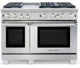 """ARROB-448GDGRN American Range Performer 48"""" All Gas Range with 4 Open Burners, Grill, Griddle & Convection Oven - Natural Gas - Stainless Steel"""