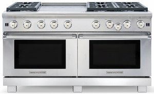 "ARROB-6602GDN American Range Performer 60"" All Gas Range with Open Burners, Griddle & Convection Oven - Natural Gas - Stainless Steel"