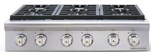 """ARSCT-364GRN American Range Legend 36"""" Cooktop with 4 Sealed Burners & Wide Grill - Natural Gas - Stainless Steel"""