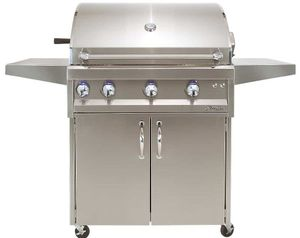 """ARTP32CLP Artisan 32"""" Professional Series Liquid Propane Grill and Cart with 3 Stainless Steel U-Burners and Push Button Ignition - Stainless Steel"""