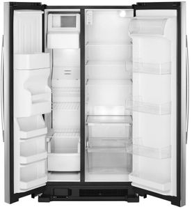 """ASI2575GRS Amana 36"""" Side by Side Refrigerator with Dual Pad External Ice and Water Dispenser - Stainless Steel"""
