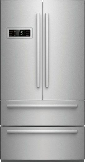 "B21CL80SNS Bosch 36"" Counter Depth 4-Door Refrigerator with a Dual AirCool System and 4 Adjustable Glass Shelves - Stainless Steel"
